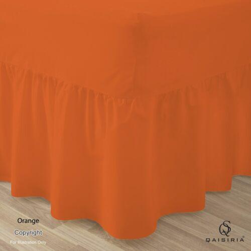 Uni Doux En Polycoton Poly Coton Drap Housse Draps De Lit Toutes Tailles