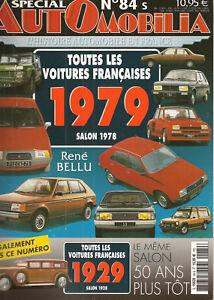 AUTOMOBILIA-84-S-LES-VOITURES-FRANCAISES-1979-SALON-1978-et-1929-SALON-1928