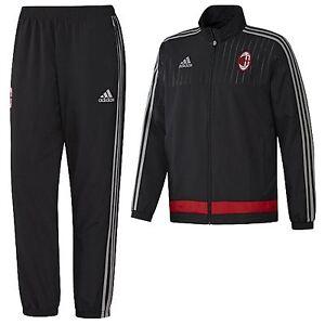 Traje-De-Pista-De-Presentacion-Adidas-AC-Milan-italiano-de-futbol-correr-fitness-para-hombre