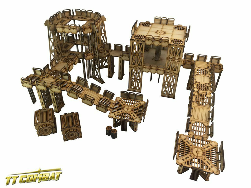 Ttcombat Sector 1 Industrial Complex 28mm Terreno Terrain Scifi Plattform Set