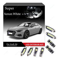 17-pc LED Bulb white Interior Kit For Audi A6 C7 4G Sedan Avant Canbus Light