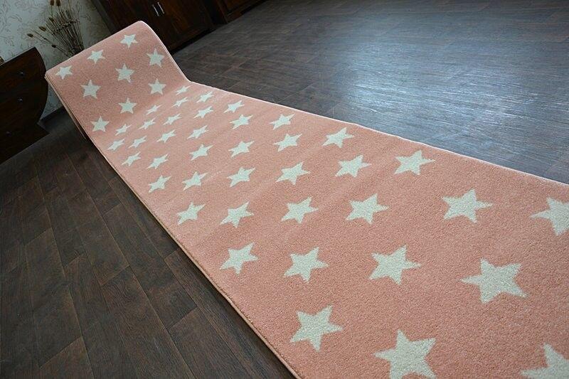 Moderne Épais Coureur de Hall Brouillon Étoiles Étoiles Étoiles Rose Largeur 80 - 120 Cm | Sale  98e243