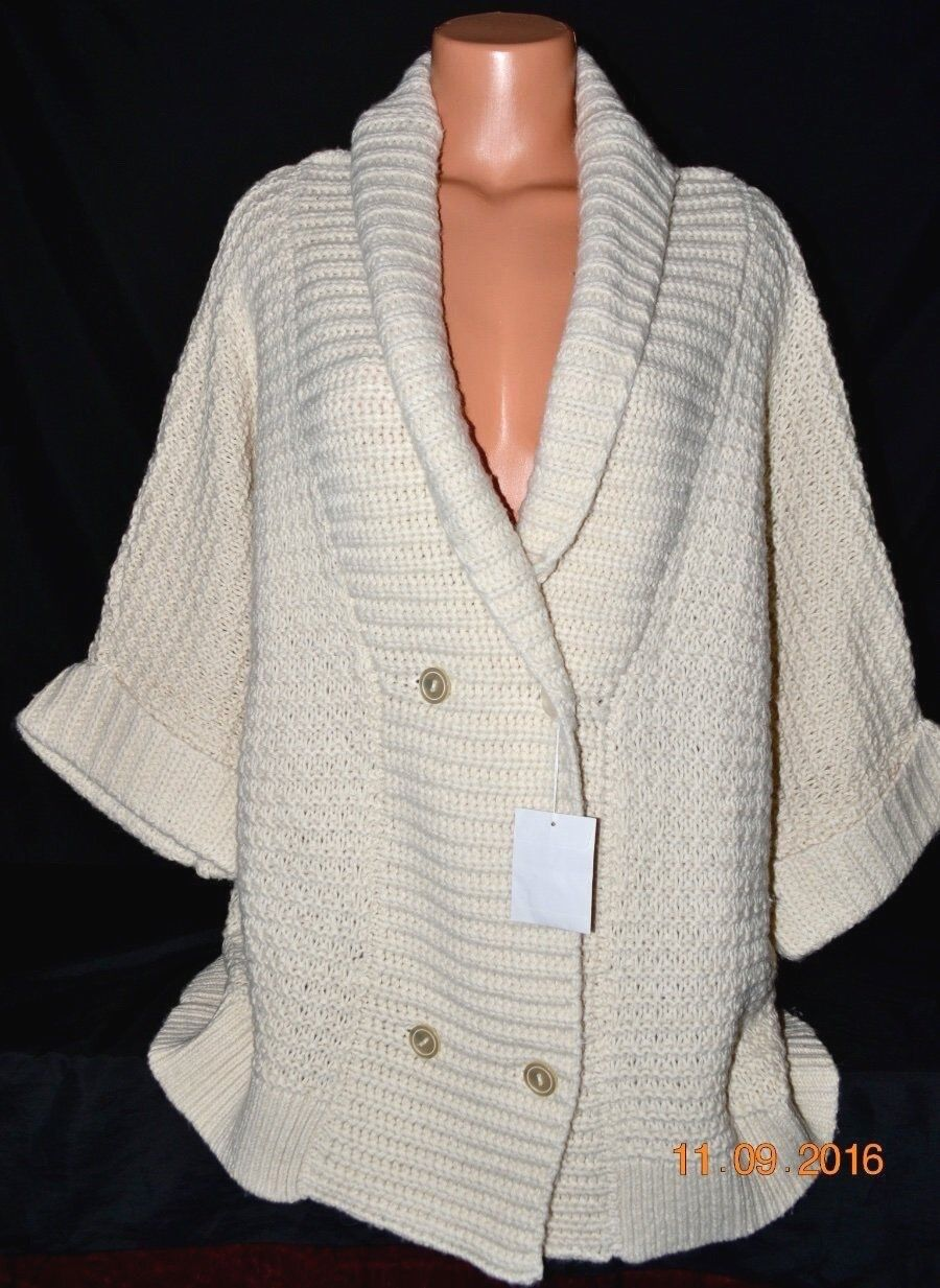 Victorias Secret Chunky Cable Knit Shawl Collar Cardigan Sweater Coat NWT S