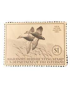 US #RW7 $1.00 Black Ducks, og, VF/NH w/gum skips Scott $225.00. (G16).