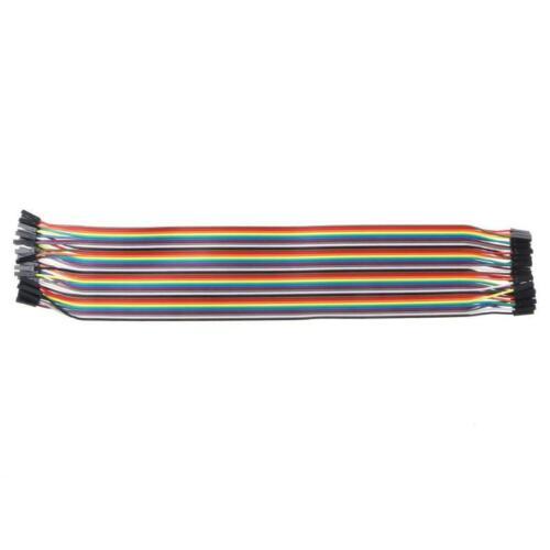40Pcs Cables M-F//M-M//F-F Jumper Breadboard Wire Colorful GPIO Ribbon for DIY Kit
