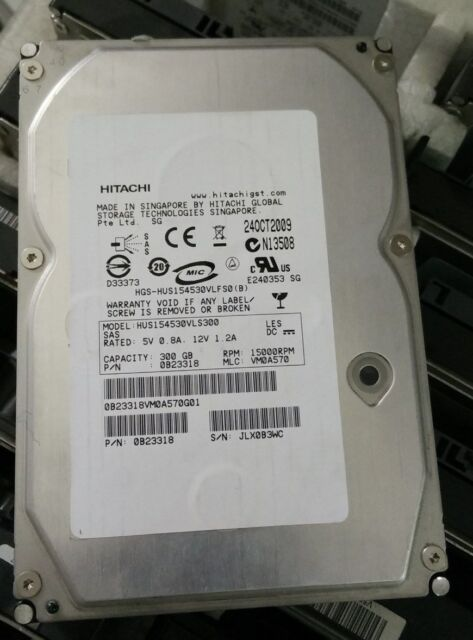 "Hitachi HUS154030VLS600 / 0B23318 300GB 3.5"" SAS 15K RPM Hard Disk Drive"