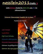 NEW!!! DIABLO 3 ps4/XBOX ONE-Cacciatore di Demoni 150 portali 100% immortale-EXTREME