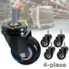 4x 2in Caster Rubber Swivel Wheels Replacement Heavy Duty For Wire Shelving Rack