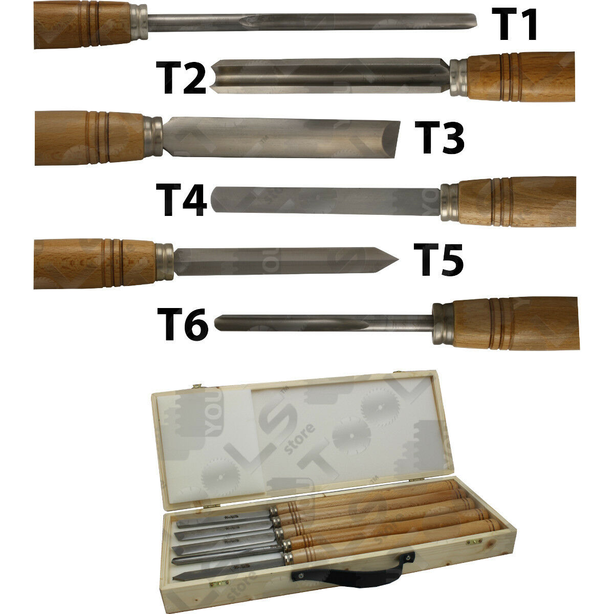 Utensili per tornitore in acciaio HSS alta qualità affilatura duratura