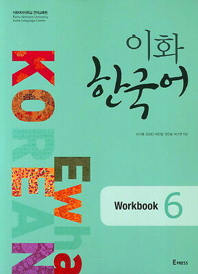 Ewha Korean Workbook 6 Korean Language Book Free Ship
