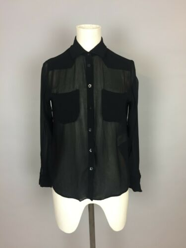 8 Top By Shirt Uk Women's Pockets With Chiffon Black Chloe See wFBUnxqORv