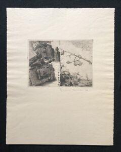Jens cords, saluto ai miei amici, acquaforte, 1977, a mano firmata e datata