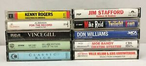 Lot-of-10-Cassette-Tapes-70-039-s-80-039-s-90-039-s-Country-Folk-Classic-Country