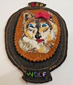 5f55406957d2f Image is loading Custom-handmade-Bad-Wolf-Pin-Patch-felt-wool
