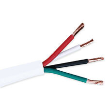 18 4 Wire | 18 Gauge 50ft 4 Conductor Bare Unshielded Cable Wire With Red White