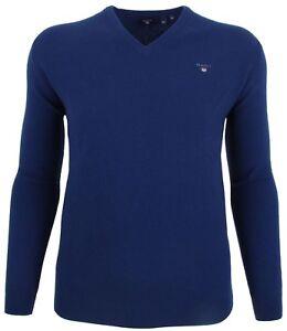 Xxxl Blue Pullover gr uomini Blau Lammwolle Lambswool uomo Gant Maglione 3xl xHwqFYfHv