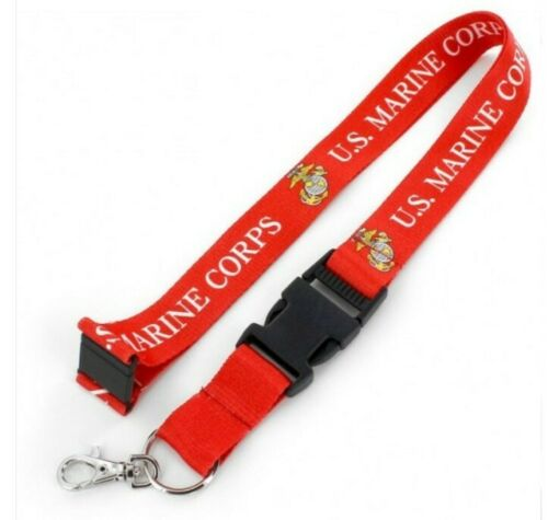 US Marines Military Lanyard with quick connect keychain by Aminco USA