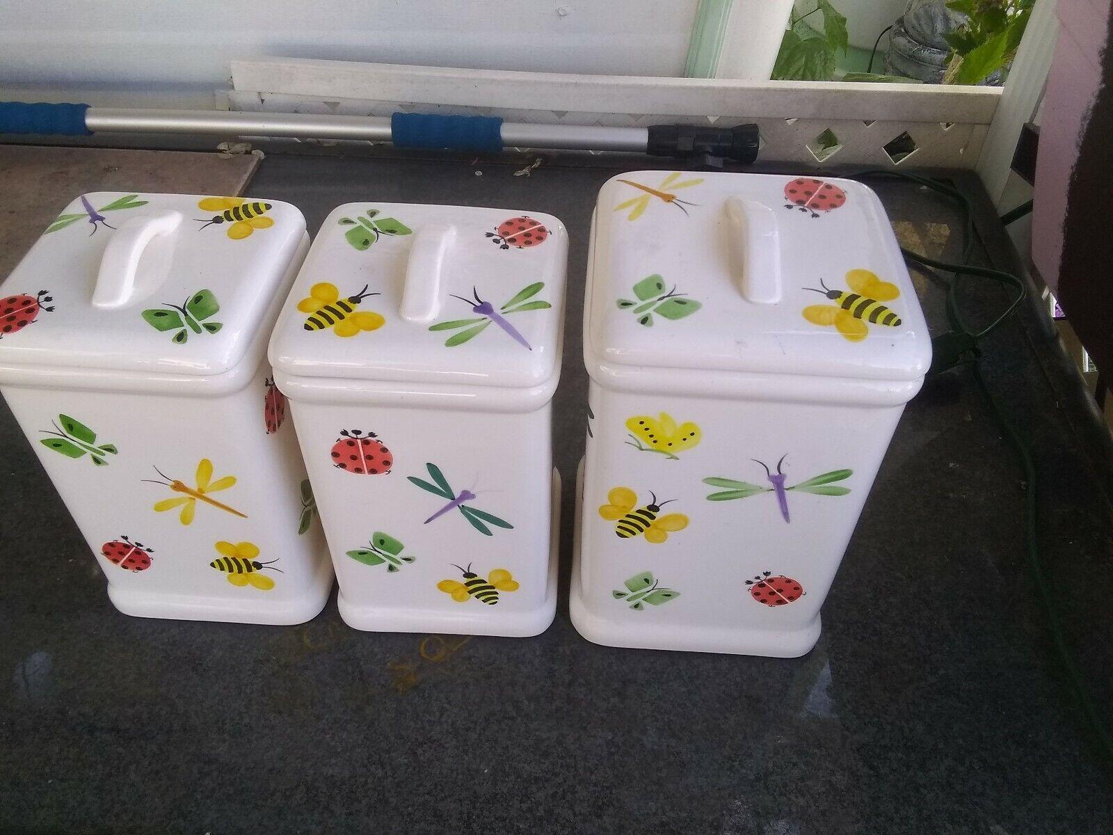 At accueil Dragon Fly Lady Bug Bumble Bee Papillon Boîtes Ensemble de 3 (2sm & 1lg)