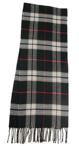Soft Black Tartan Carreaux Plaid Large Unisexe Hiver écharpe châle