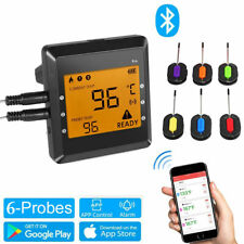 Digital Wireless Meat Thermometer 6 Probes Replacement Accessories BBQ Outdoor