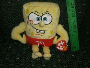 "Ty Beanie Babies 8"" ~ MUSCLEBOB BUFFPANTS ~ Spongebob ~ MWMT ~ RARE ~ 2006 ~"