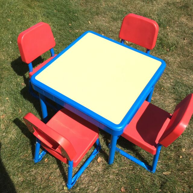 Magnificent Vintage Fisher Arts And Crafts Table Set Of Chairs Child Size 1985 A8706 Inzonedesignstudio Interior Chair Design Inzonedesignstudiocom