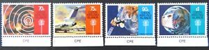 1987-Cocos-Keeling-Island-Stamps-Communications-Links-Set-of-4-Tabs-MNH