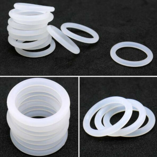 3.5mm White Food Grade Silicone HIGH TEMP Gasket Washers O-Ring Seal OD=12~85mm