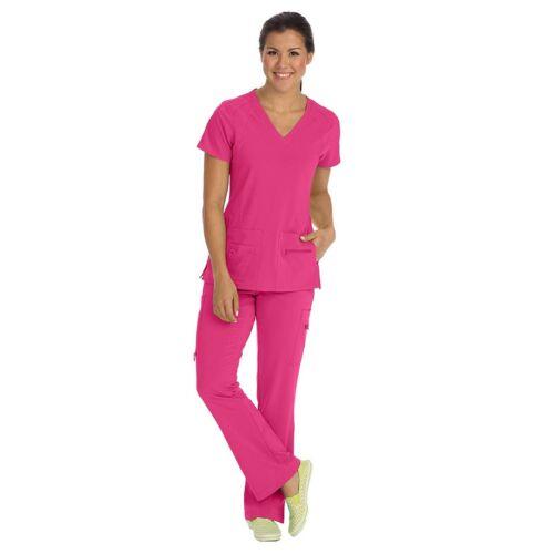 Med Couture Scrubs Set ACTIVATE Women/'s V-neck Racerback Top Yoga Pant 8416//8747