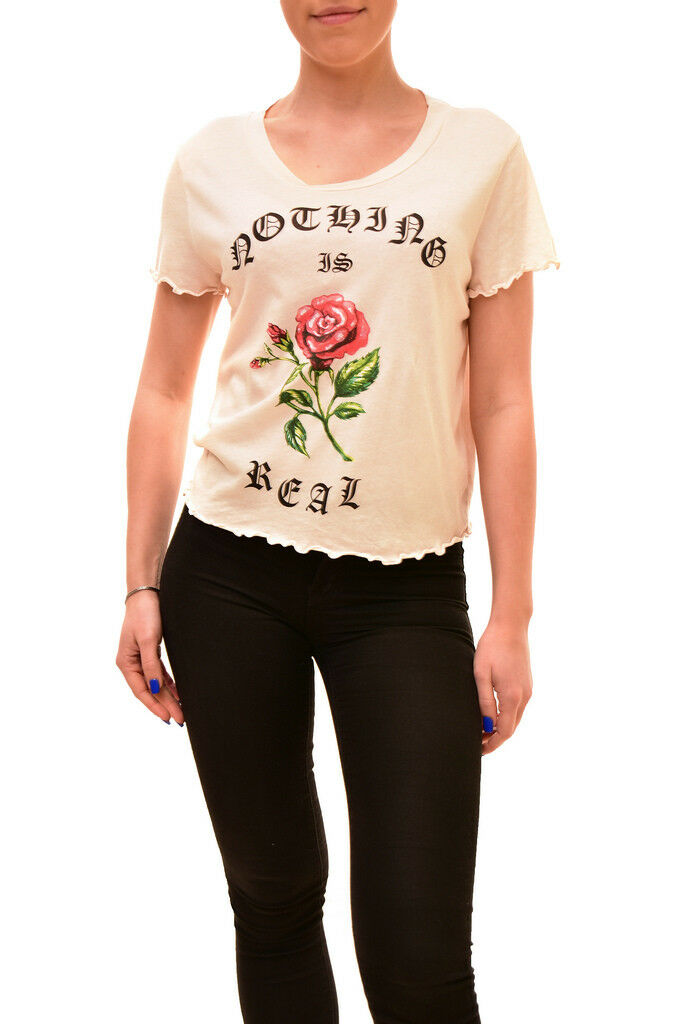 Wildfox Woherren Authentic Nothing Is Real Shirt Nude Größe S RRP  BCF84