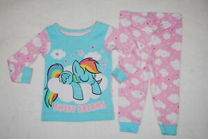 NEW NWT Girls Size 18 Months Sweet Dreams My Little Pony Pjs Pajamas Snug Fit