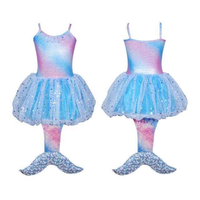 Pink Poppy Blue Mermaid Costume Mermaid Party Dress w mermaid tail size 56