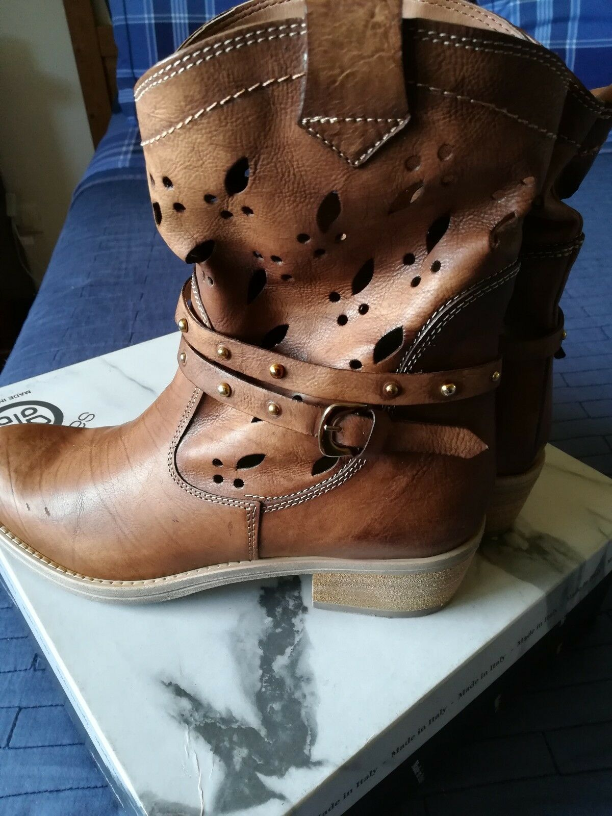 botas De Cuero Italiano Para Mujer