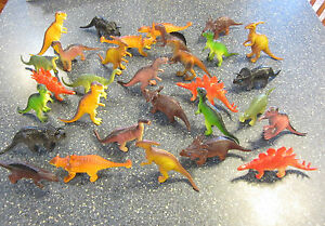 "3 NEW LARGE ASSORTED TOY DINOSAURS 6"" DINOSAUR FIGURES DINO ANIMAL KIDS PLAYSET"