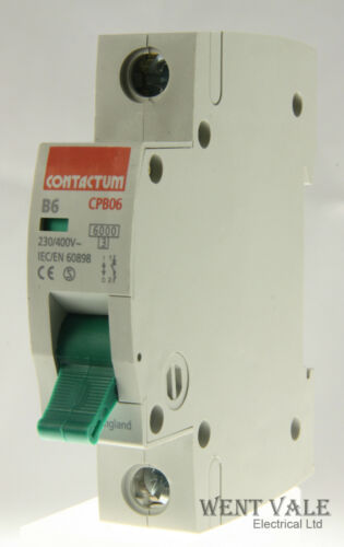 1-6a Tipo B Unipolar Mcb Usado Contactum Cp Gama-cpb06-b6