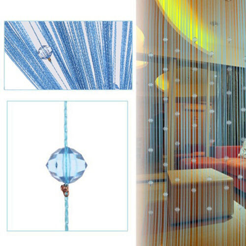 Room Door Window Beads Crystal String Curtain Tasssel Wall Panel Fringe Divider