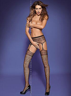 Sexy Garter Stockings Netzstrümpfe div. Größen Farben Dessous Reizwäsche GoGo