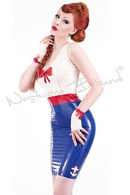STUNNING RUBBER LATEX PIN UP Sailor R1220 DRESS **SHOWN** Last few