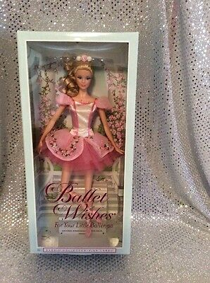 BALLET WISHES BALLERINA BARBIE DOLL 2013 PINK LABEL COLLECTOR MATTEL BDH12