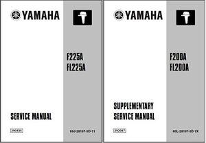 yamaha f200 fl200 f225 fl225 4 stroke outboard motor service manual rh ebay com yamaha f225 owners manual yamaha f225 service manual pdf
