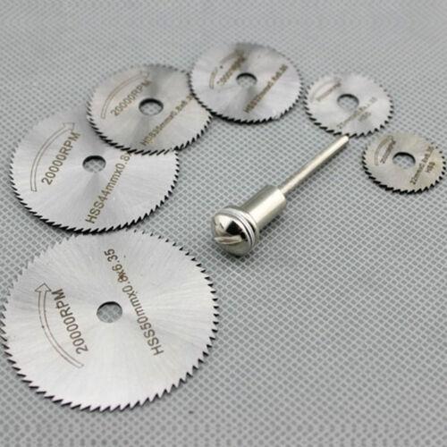 7pcs Wheel Cutting Blades 22-50mm HSS Saw Disc For Dremel Drills Cutter Rotary