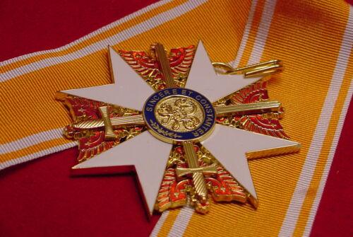 SASH MEDAL PRUSSIAN RED EAGLE ORDER GRAND CROSS W// SWORDS /& RIBBON GERMAN