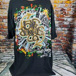 5ive-Jungle-Kings-County-Black-Graphic-Shirt-Sz-Xl