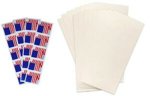 20 USPS Forever Flag Stamps with 20 Self Adhesive Envelope Office Bundle