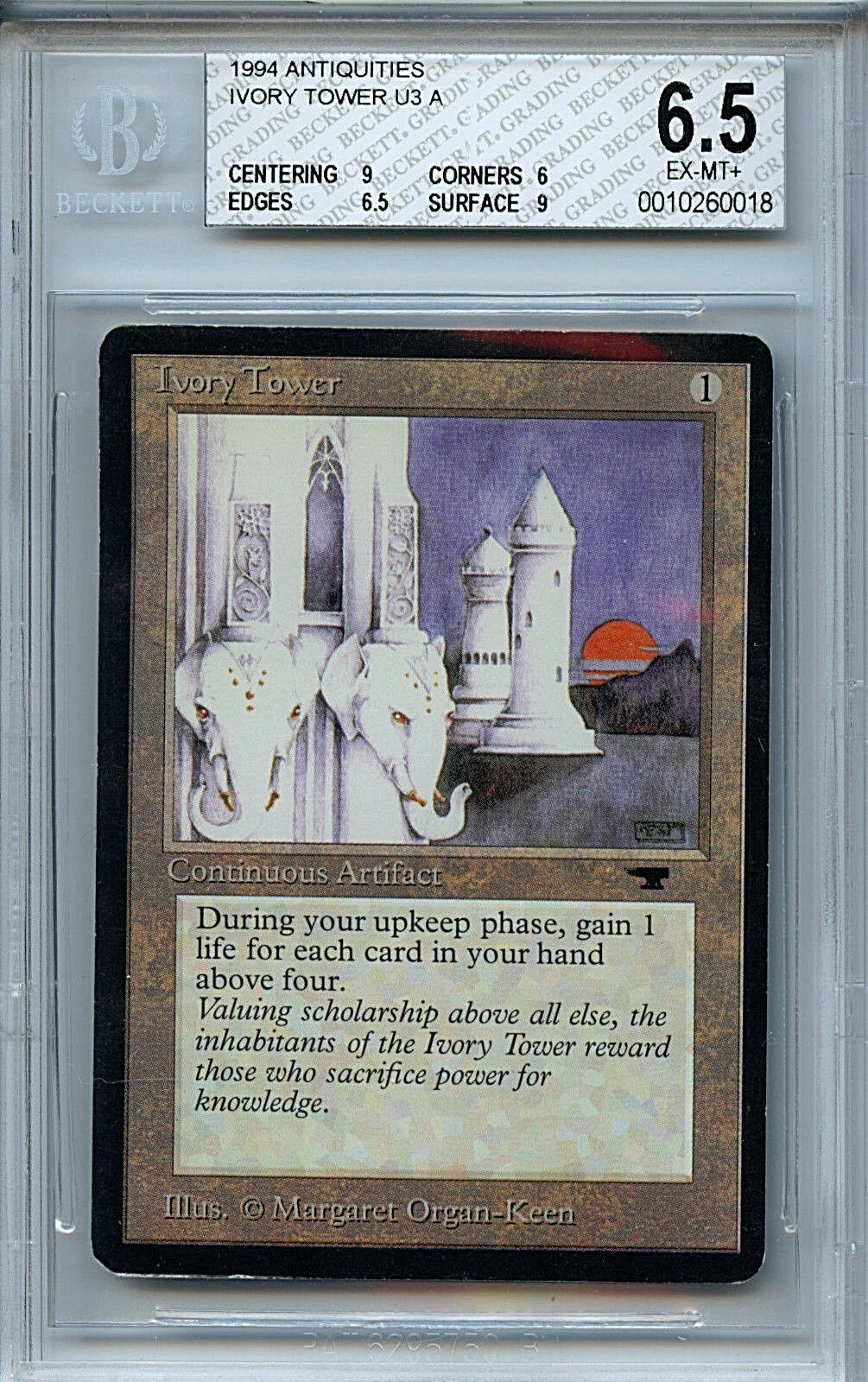 MTG Antiquities Ivory Tower BGS 6.5 Ex MT Magic card 0018