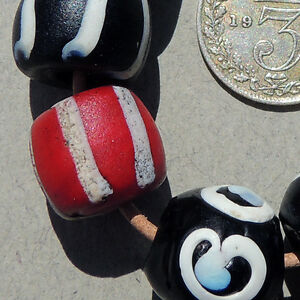 8-old-striped-venetian-fancy-beads-and-2-zen-beads-african-trade-997