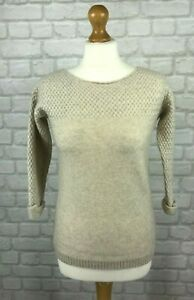 Fatface-Women-039-s-Wool-Cashmere-Blend-3-4-Sleeved-Jumper-Size-6-Super-Soft-Warm