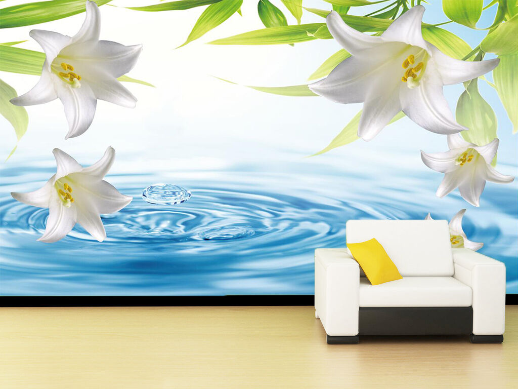 3D Water Lilies 3467 Wall Paper Wall Print Decal Wall Deco Indoor Wall Murals
