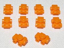 LEGO LOT OF 10 NEW ORANGE ROLLERBLADES ROLLER SKATES MINIFIGURE ACCESSORIES