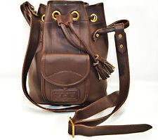 Dooney & Bourke Vintage Drawstring Sling Bag Handbag Beautiful Brown